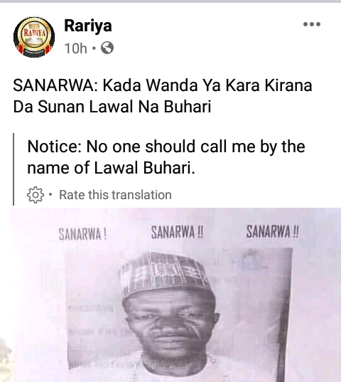 Man reportedly puts up a public notice, says he no longer wants to be called the name
