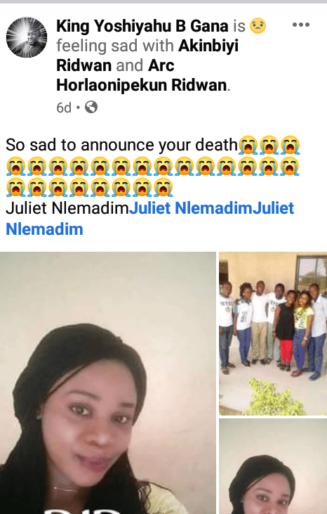 Nigerian woman dies days to her wedding