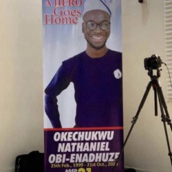 """Oke, #EndSARS protester stabbed to death in Lagos three hours after tweeting """"Nigeria will not end me,"""" laid to rest (photos/video)"""
