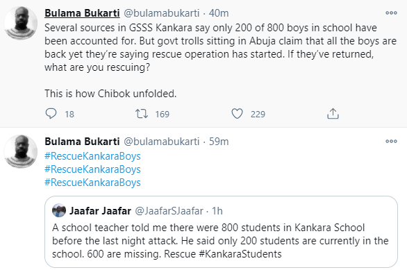 Update: 600 students reportedly missing as police confirm return of 200 students after Katsina secondary school attack