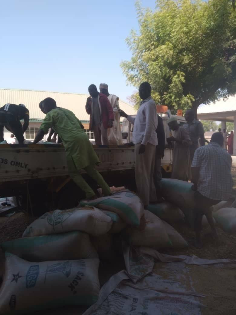 Nigeria Customs intercepts 73 locally manufactured guns and 891 cartridges concealed in bags of rice in Kebbi