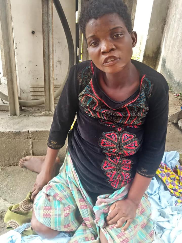 Young woman reportedly impregnated and abandoned in Rivers found lying along the road in critical condition