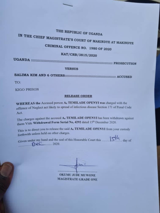 Breaking: Charges against Omah Lay and Tems in Uganda has been dropped