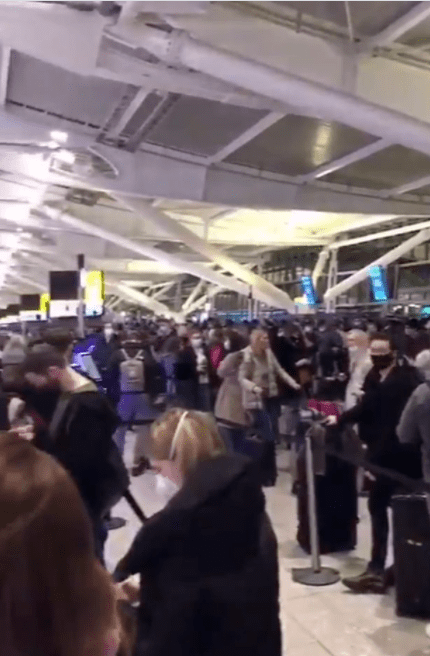 Brits stranded at Heathrow Airport as flights are suspended over