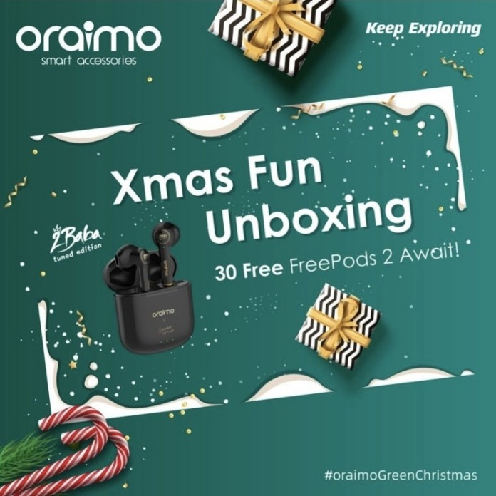 Get Your Christmas Groove On with One Free Unit of the?Oraimo?2baba Edition Freepods2