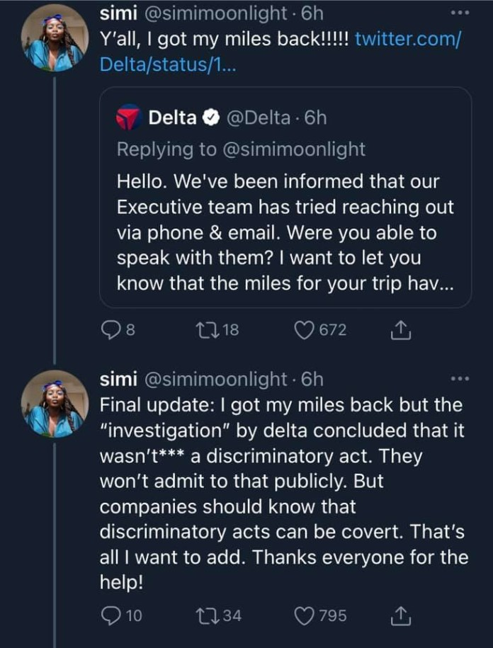 Black woman calls out Delta airline after being kicked her out of her first class seat