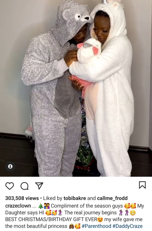 """""""Best Christmas gift ever"""" Comedian Craze Clown and fianc?e welcome a baby girl"""