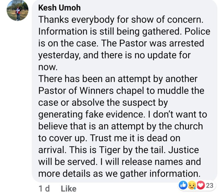 """""""Murder in the cathedral"""" Family of UNIUYO final year student found dead in his apartment claim he was killed by a pastor he had a disagreement with"""