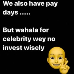 ''Nobody would send you when your chips are down'' - Actor IK Ogbonna tells his fellow celebs as he advises them on the need to spend wisely.