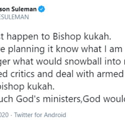 Face the terrorists and let Bishop Kukah be - Apostle Suleman