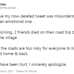 Chike apologises for telling Igbos to avoid being barbaric by moving to the East for Christmas.