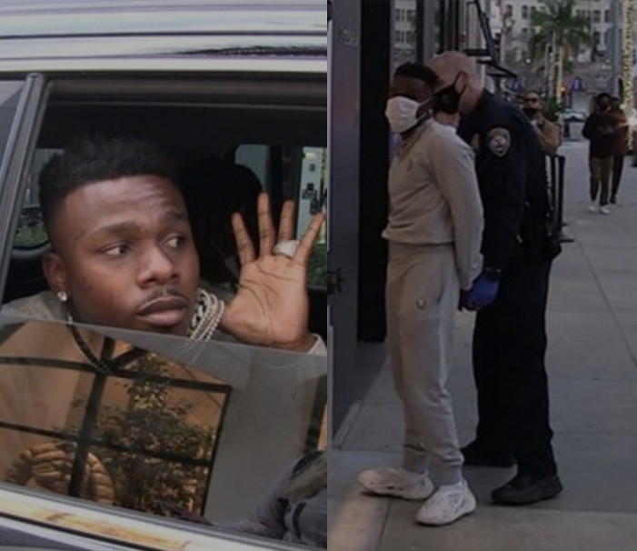 US rapper, DaBaby arrested while shopping on Rodeo Drive with friends as cops allegedly found a gun in their possession