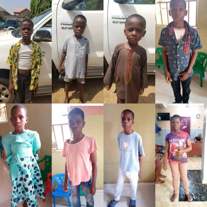 Child trafficking kingpin arrested as Gombe police command returns unclaimed children to Anambra (photos)
