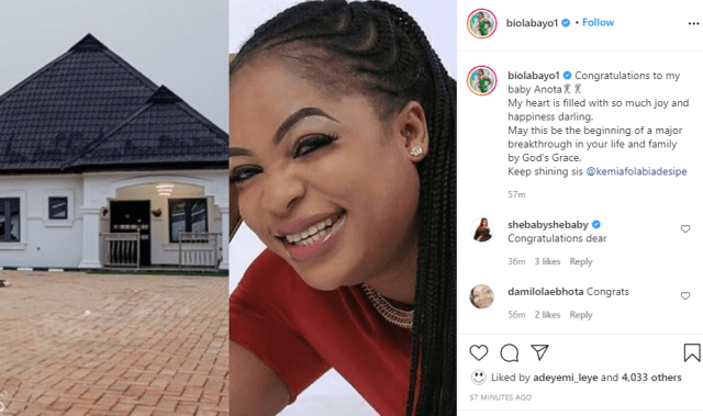 Actress Kemi Afolabi builds a new house