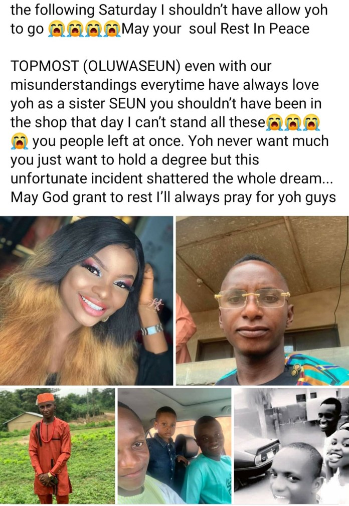 Man mourns his 3 siblings who died after a truck rammed into their mother