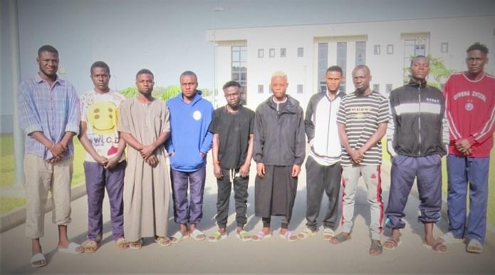 EFCC burst Yahoo-Yahoo academy in Abuja, arrests 10 students; (photo)