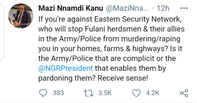 If you?re against Eastern Security Network,  Receive sense