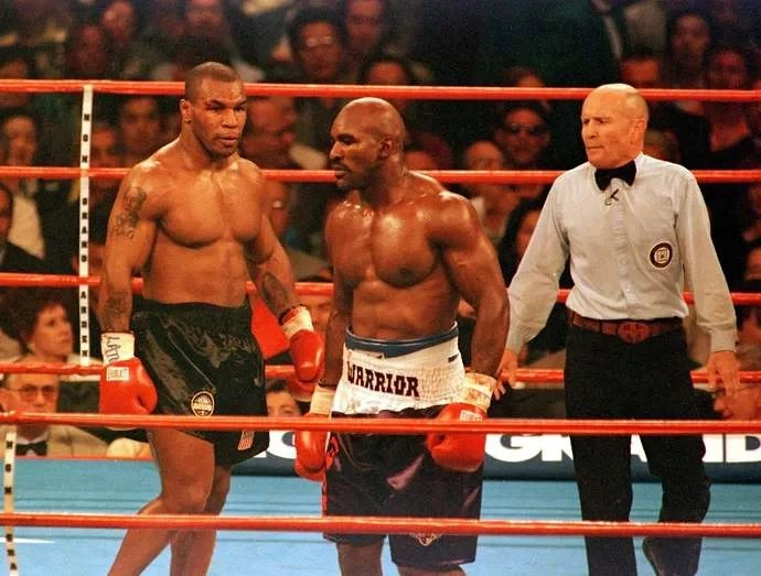 Boxing legends, Mike Tyson, 54, and Evander Holyfield, 58,
