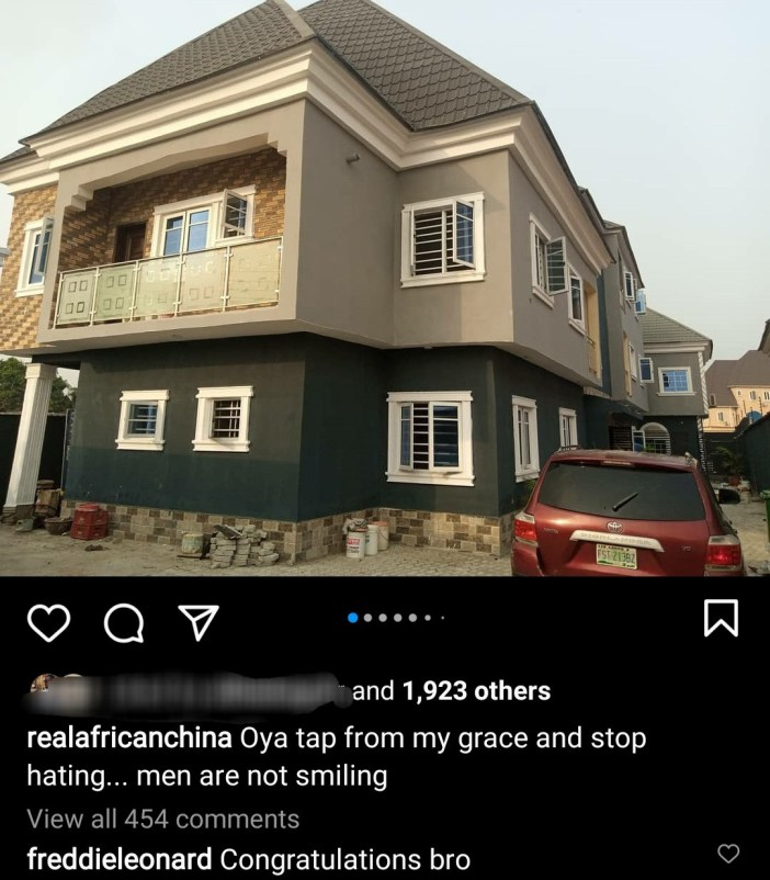 """""""Tap from my grace and stop hating"""" - African China says as he shows off his newly-completed house (photos/videos)"""