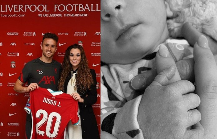 Liverpool striker, Diogo Jota and partner Rute Cardoso welcome their first child, a baby boy?
