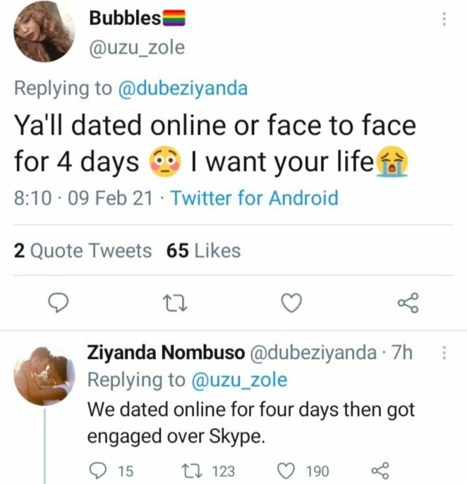 """""""We dated online for 4 days and got engaged on Skype on the 5th day"""" Couple reveal ahead of their 5th wedding anniversary (video)"""