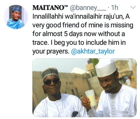 Young man declared missing for five days in Kano