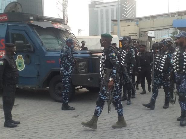 #OccupyLekkiTollGate: Heavy police presence at Lekki toll gate (photos/videos)