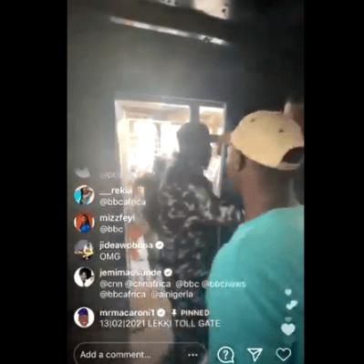 #OccupyLekkiTollgate: Watch moment Police snatched away Mr Macaroni's phone while on Instagram Live