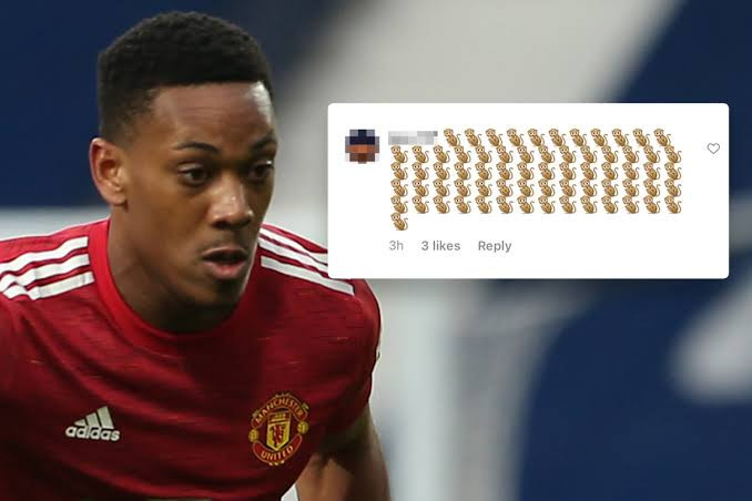 Anthony Martial racially abused on social media after Manchester United