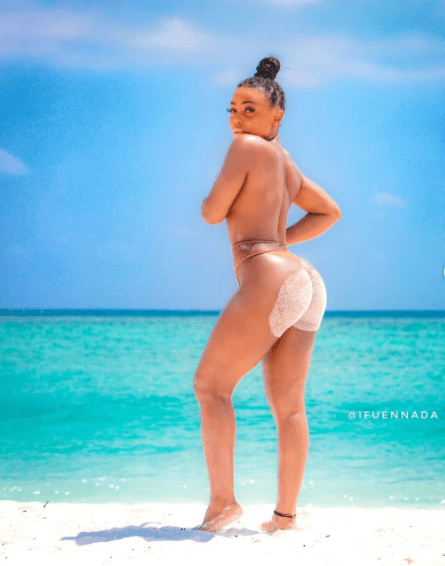 Ifu Ennada shares sultry photos from her vacation in Maldives
