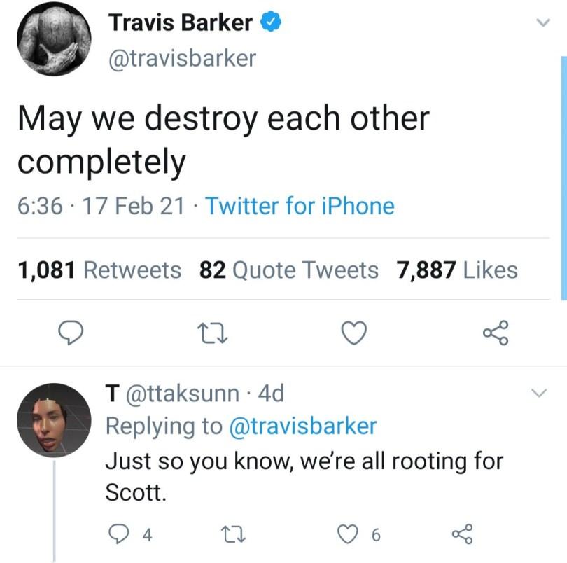 Travis Barker shares love letter he got from Kourtney Kardashian