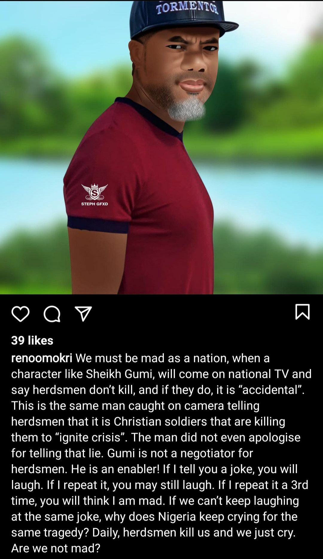 """""""Are we not mad?"""" Reno Omokri questions as he calls out Sheikh Gumi"""
