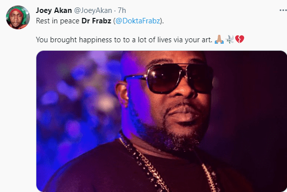 Music producer, Dr Frabz is dead