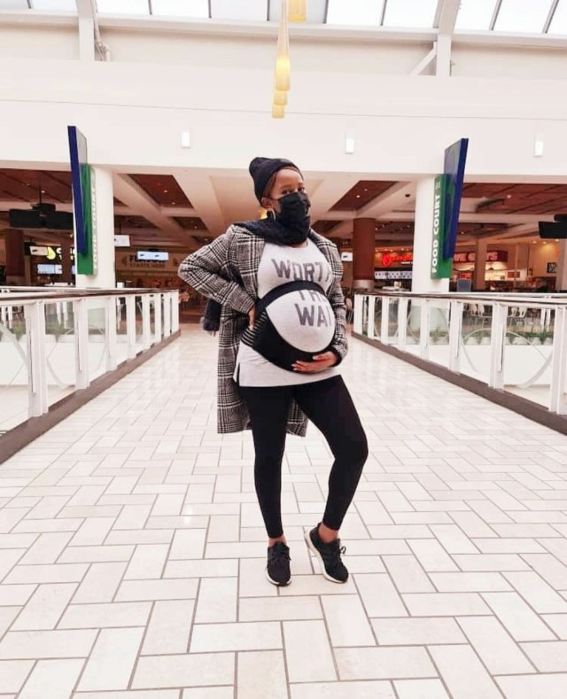 Adesua Etomi-Wellington shares photos documenting her pregnancy, childbirth, and motherhood