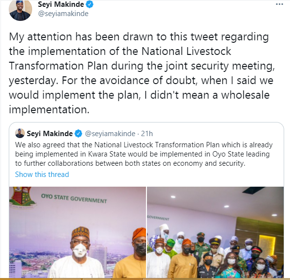 Ranching is private business, Oyo won?t provide land for ranching - Governor Makinde