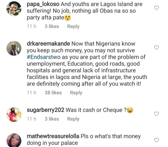 Oba of Lagos under fire for saying hoodlums stole $2m and N17m from his palace during the #EndSARS protest