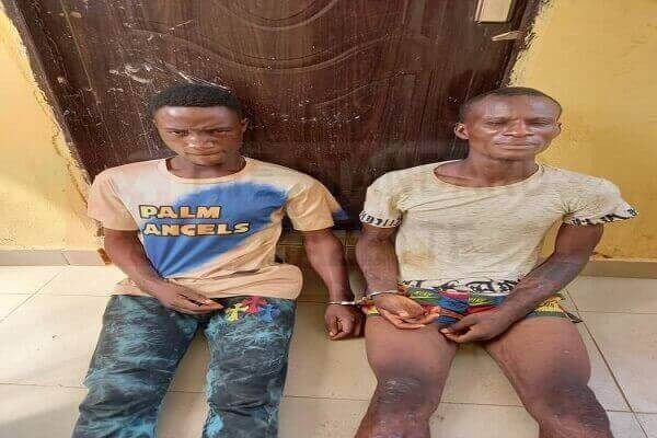 Edo Police arrest two suspected burglars who specialize in breaking into homes on Sundays when owners are in church