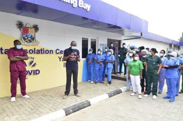 9mobile in solidarity visit to Covid-19 frontline health workers