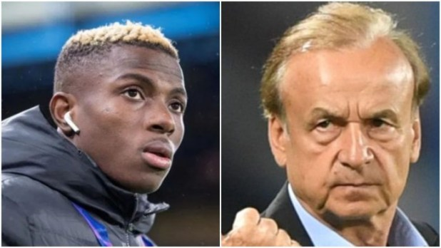 Gernot Rohr reacts after top neurosurgeon warns against rushing Victor Osimhen back to the field following brain trauma