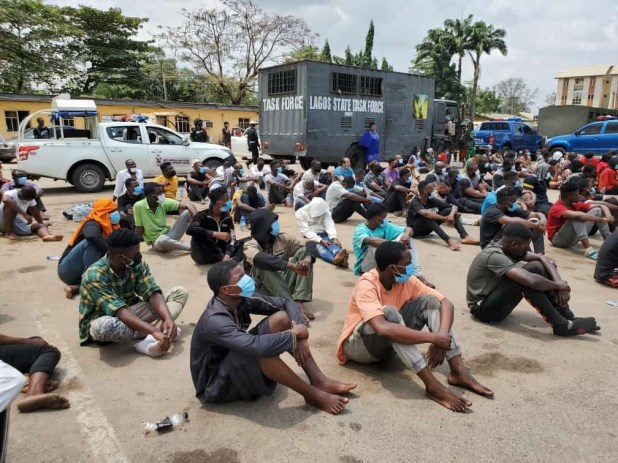Lagos state police command arrests and parades 113 COVID19 violators (photos)