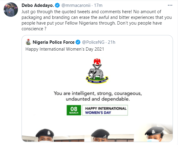 No amount of packaging can erase the awful and bitter experiences that you people have put your fellow Nigerians through - Comedian Mr Macaroni slams Nigerian Police