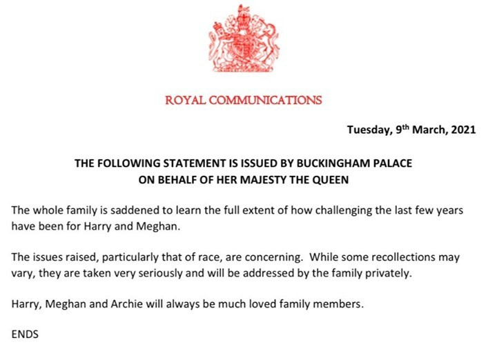 Royal Family reacts to Meghan Markle and Prince Harry