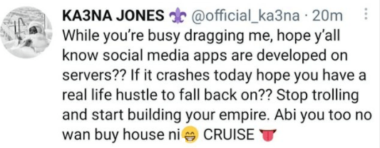 Stop trolling and start building your empire - BBNaija