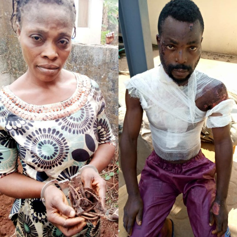 Woman arrested for pouring hot water on her husband and also allegedly killing their baby in Ogun (photos)