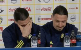 Watch Zlatan Ibrahimovic cry after being asked what his family thought of his sensational return to play for Sweden aged 39 (Video)
