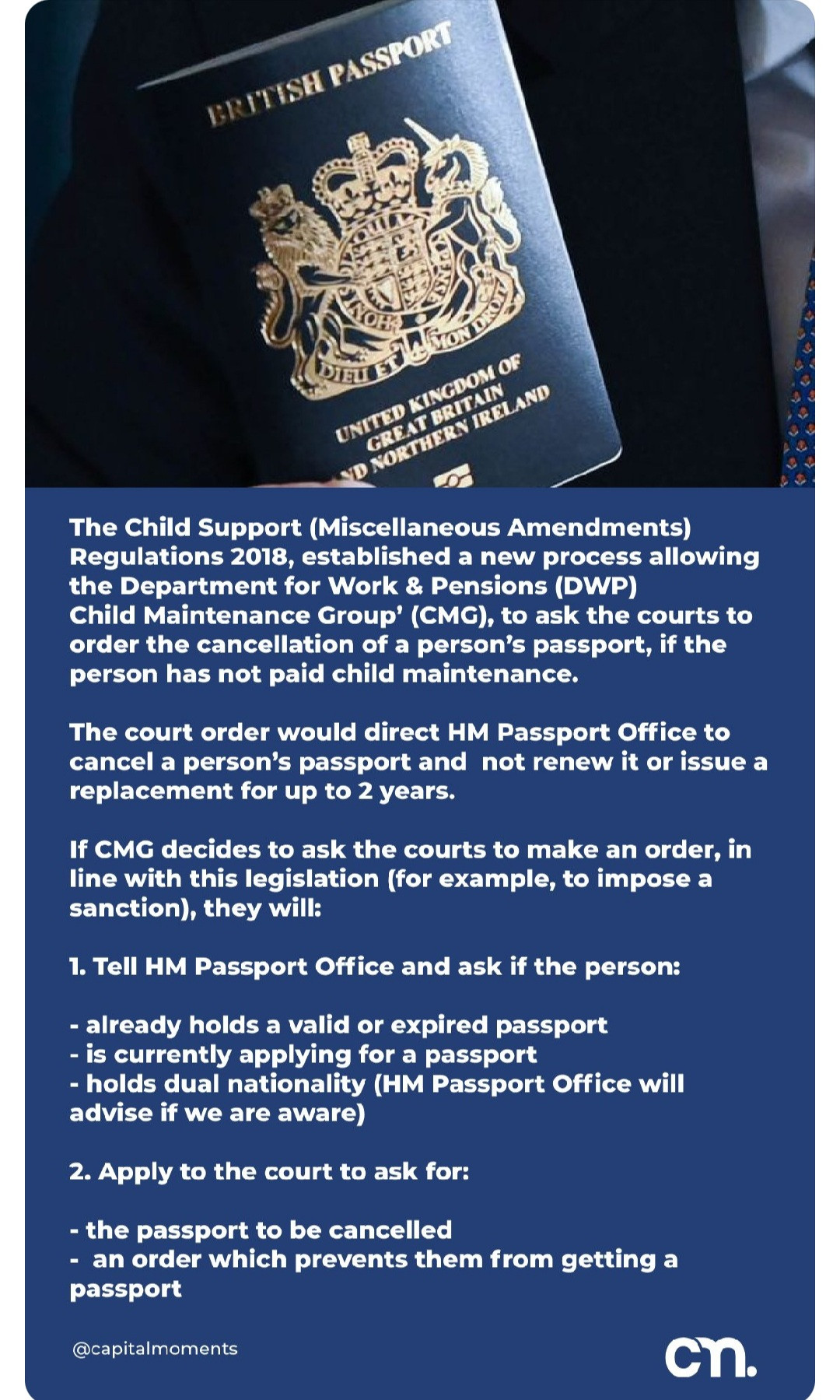UK govt issues guidance that allows for cancellation of a person