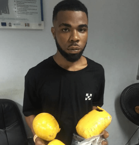 Man arrested at Abuja airport with tramadol and other banned substances concealed in foodstuff (photo)