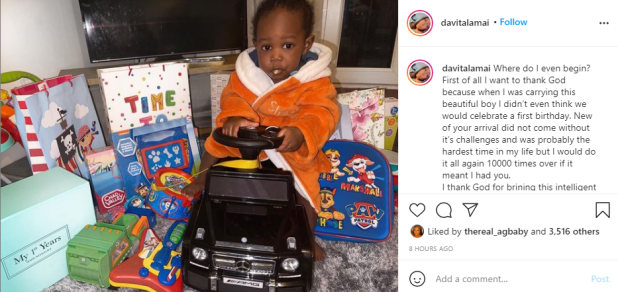 Rapper Zlatan Ibile and his baby mama, Davita celebrate their son?s first birthday in UK (video)