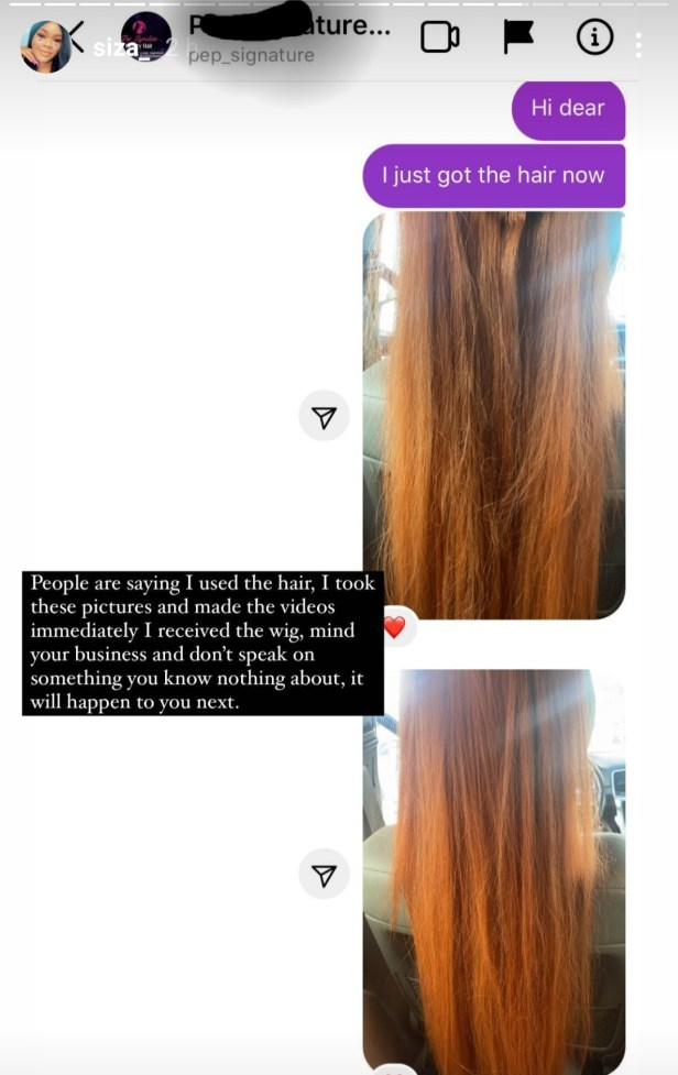 What I ordered vs what I got: Mother takes action against vendor who delivered hair her daughter didn