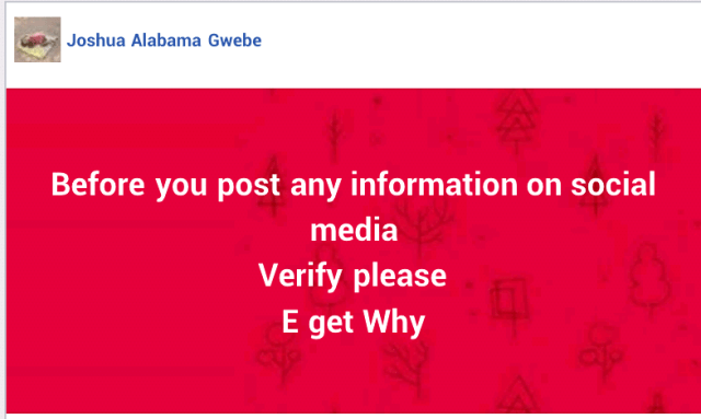 Man reportedly arrested over Facebook post alleging a student ran mad after being slapped by VC of Benue State University